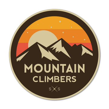Mountain Climbers Sticker Decal