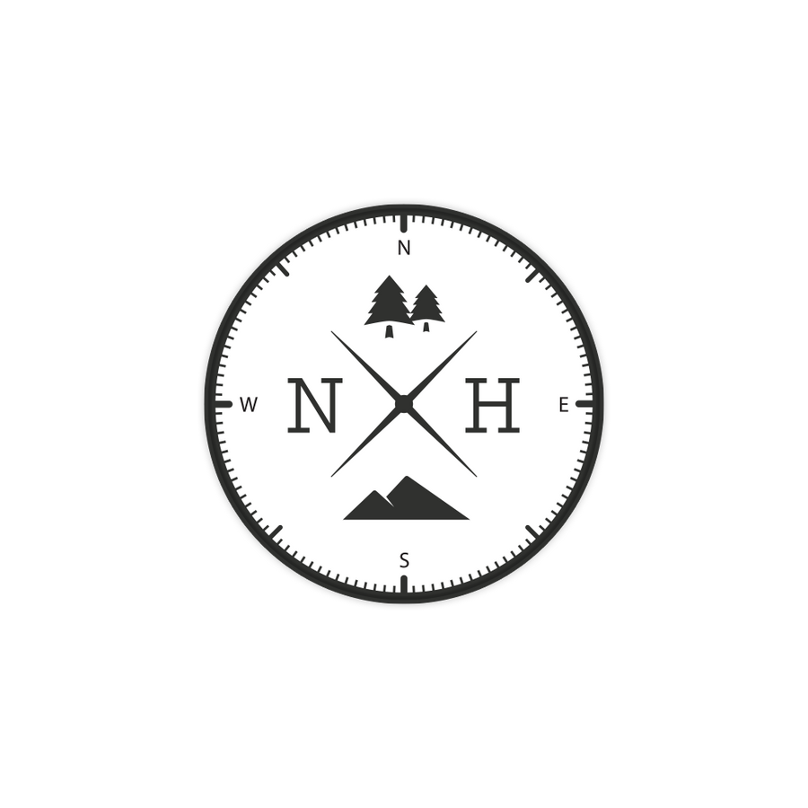 New Hampshire NH Compass Sticker Decal