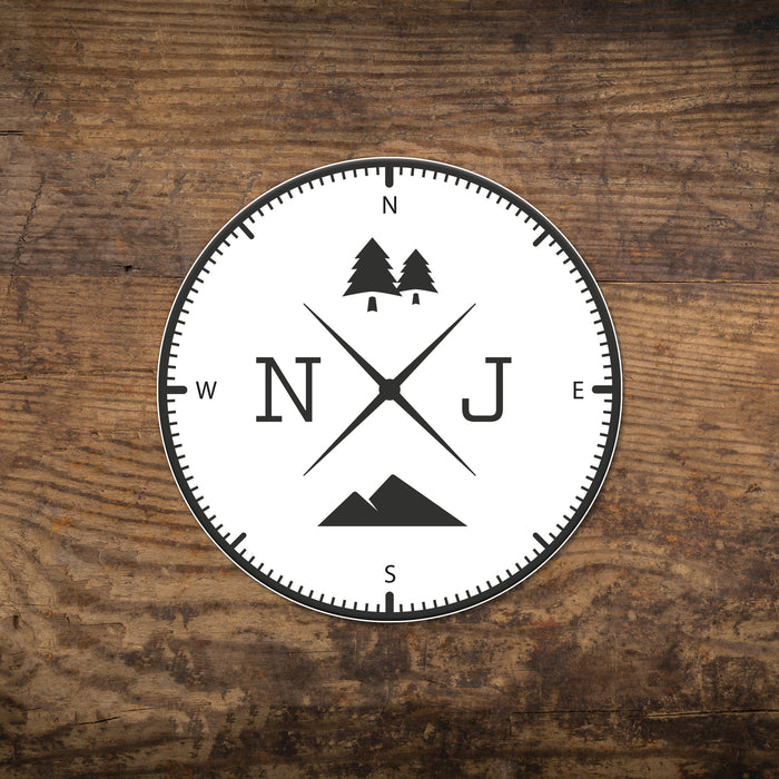 NJ Compass Sticker