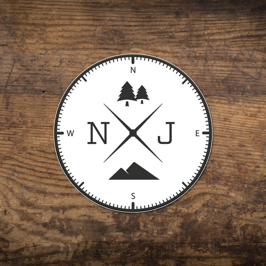 New Jersey NJ Compass Sticker