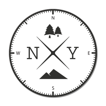 New York Compass Sticker Decal
