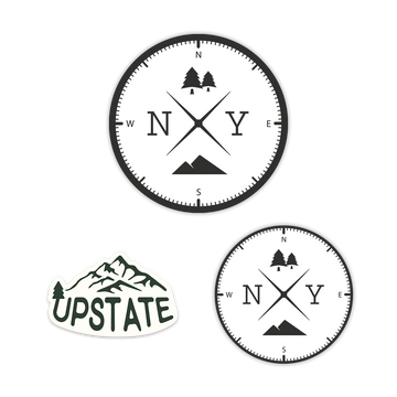 New York Upstate Sticker Magnet
