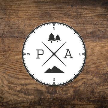 Pennsylvania Compass Sticker
