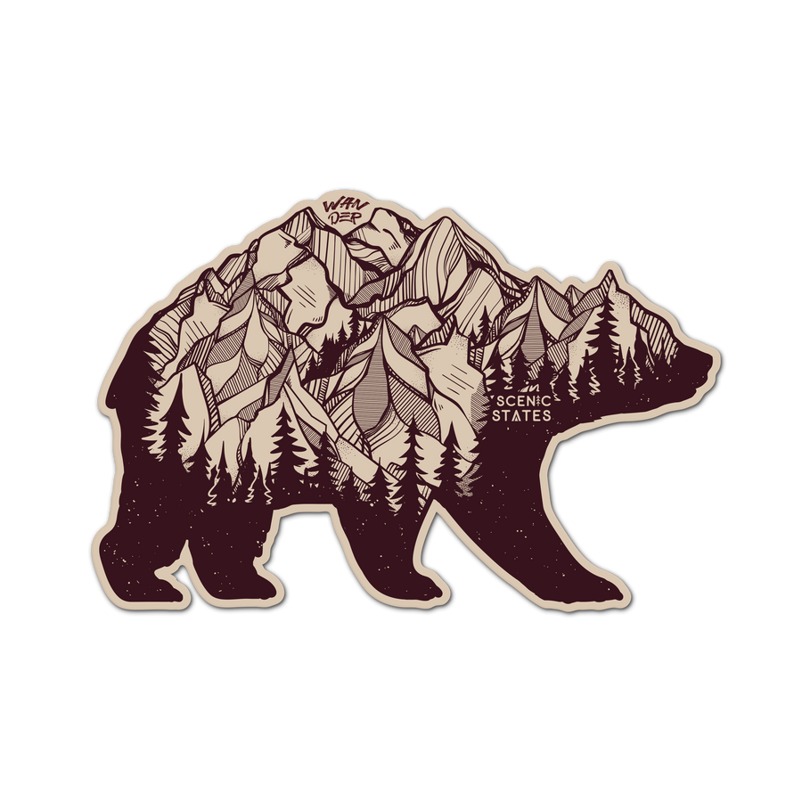 Wander Bear Sticker