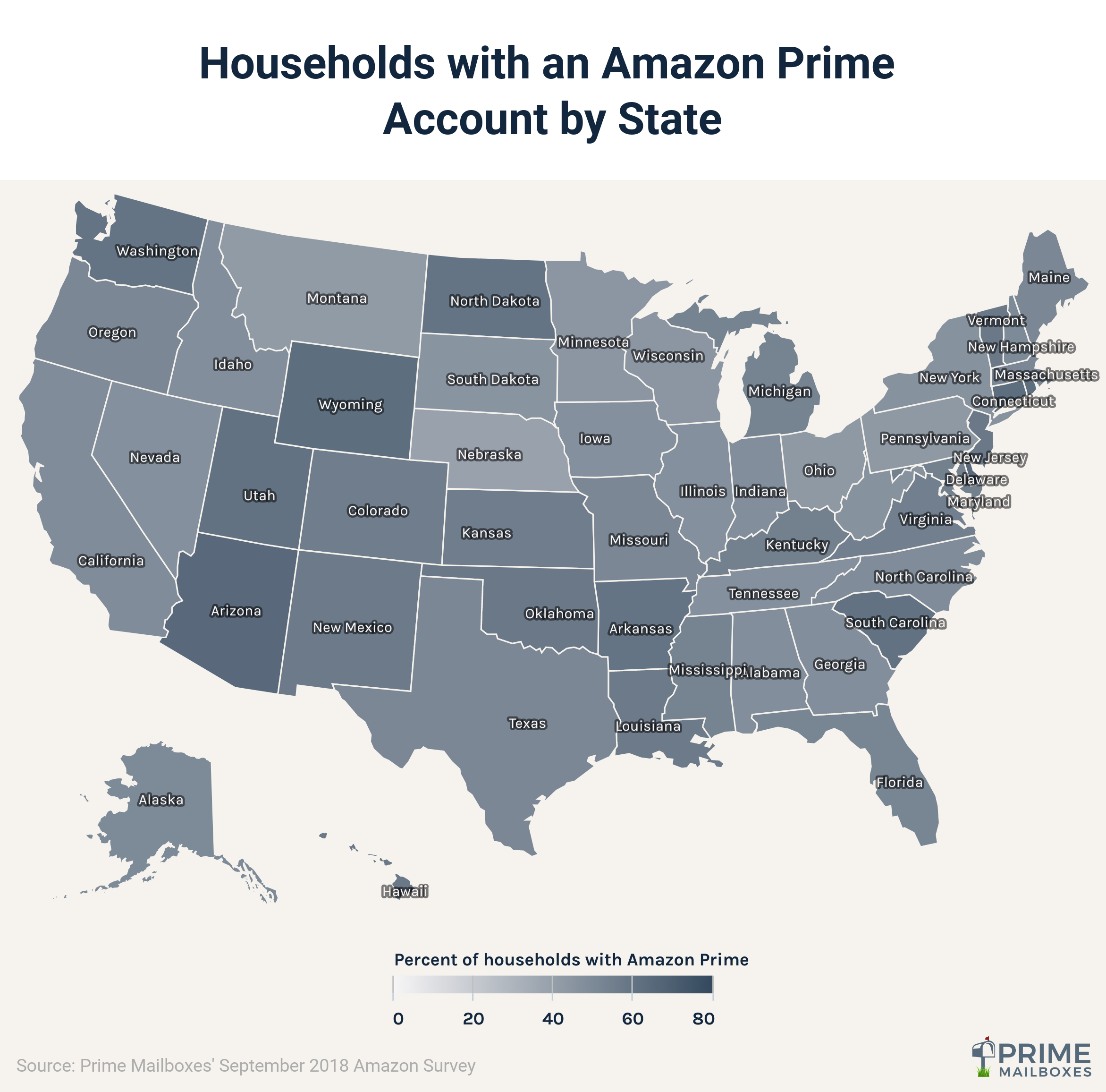 Amazon Prime Households by State
