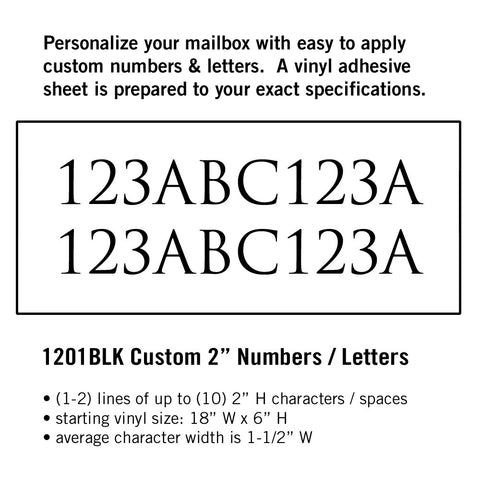 Numbers / Letters - Prime Mailboxes