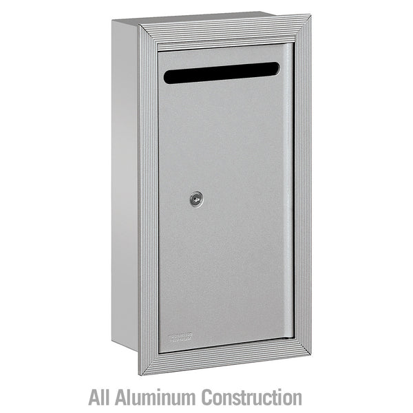 Salsbury Industries Slim Letter Box Recessed Mounted with Commercial Lock