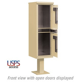 Salsbury Industries 2 Compartments Outdoor Parcel Locker USPS Access