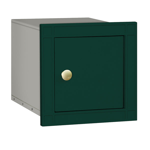 Cast Aluminum Column Mailbox Non-Locking with Plain Door