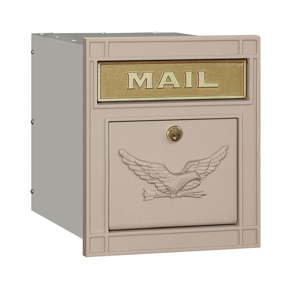 Salsbury Industries Locking Cast Aluminum Column Mailbox with Eagle Door