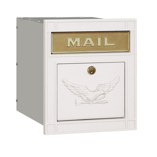 Locking Cast Aluminum Column Mailbox with Eagle Door