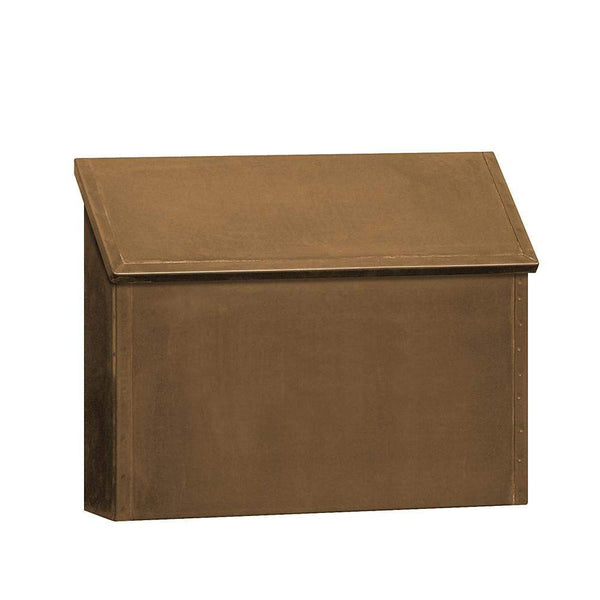 Salsbury Industries Standard Horizontal Style Antique Brass Residential Mailbox