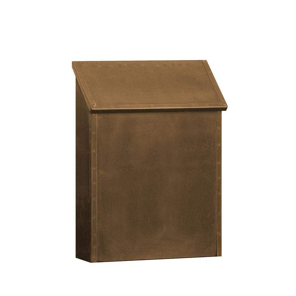 Salsbury Industries Standard Vertical Style Antique Brass Wall Mount Mailbox