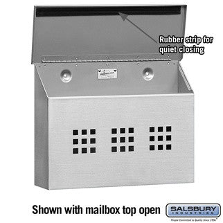 Salsbury Industries Decorative Horizontal Style Stainless Steel Mailbox