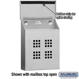 Salsbury Industries Decorative Vertical Style Stainless Steel Mailbox