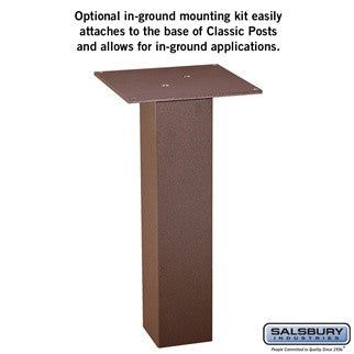 Salsbury In-ground Mounting Kit for Classic Mailbox Post
