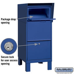 Salsbury Industries Blue Courier Box Private Access