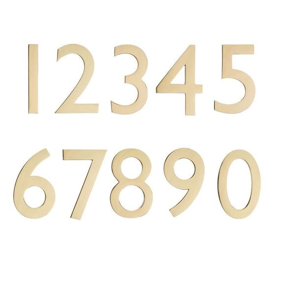 Architectural Mailboxes 5 Inch Cast Brass House Numbers (0-9)