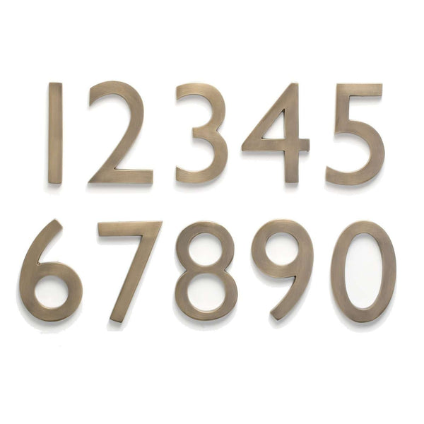 Architectural Mailboxes 5 Inch Cast Brass House Numbers (0‰ې9)