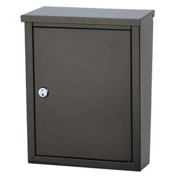 Architectural Mailboxes Chelsea Locking Wall Mount Bronze Mailbox