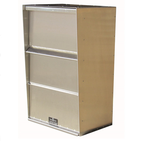 Jayco Industries Stainless Steel Large Vertical Wall Mount Letter Locker