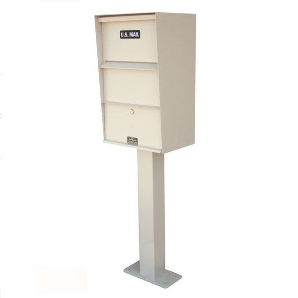 Jayco Industries Aluminum Large Vertical Wall Mount Letter Locker