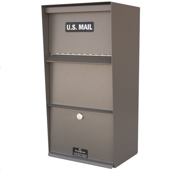 Jayco Industries Stainless Steel Vertical Wall Mount Rear Access Letter Locker Mailbox