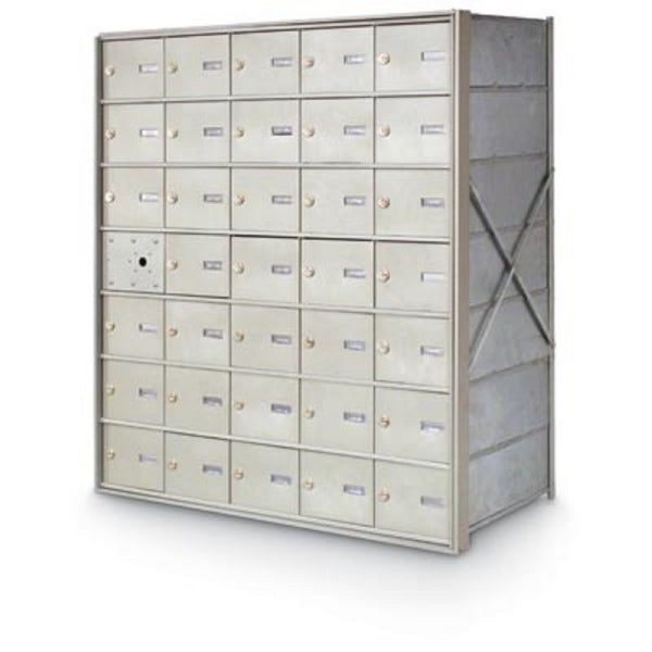 Postal Products Unlimited 34 Door Front Load 4B+ Horizontal Mailbox Anodized Aluminum