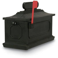 Postal Products Unlimited Classic Black 1812 Architectural Series Mailbox