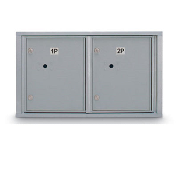 Postal Products Unlimited Standard 4C Mailbox with 2 Horizontal Parcel Lockers