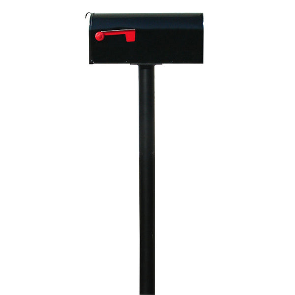 QualArc Hanford Single Mailbox Post System Cast Aluminum with Single E1 Economy Rural Mailbox and Mounting Plate