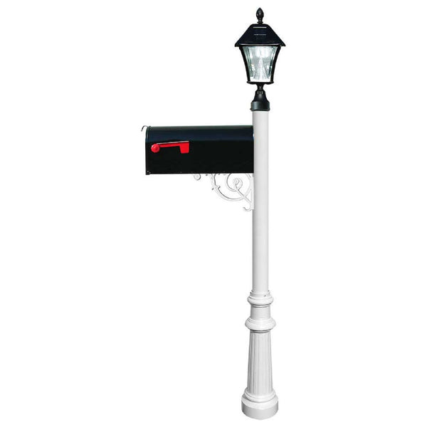 QualArc Lewiston Post Economy Mailbox Galvanized Metal