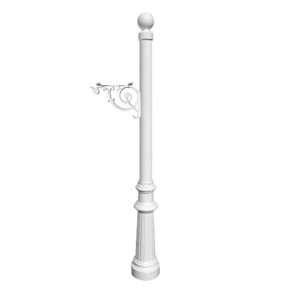 QualArc Lewiston Decorative Mailbox Post Only Cast Aluminum