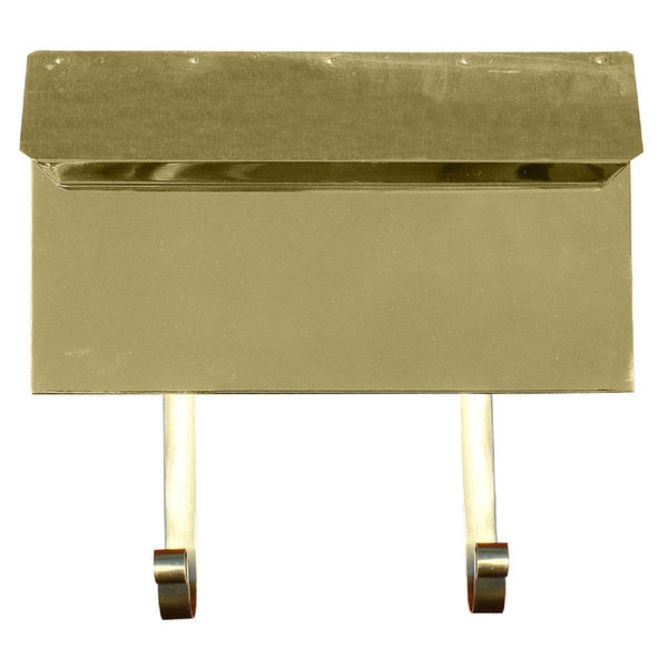 QualArc Provincial Horizontal Collection Brass Mailbox