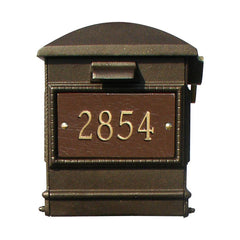 QualArc Personalized Lewiston Mailbox with Custom Address Plates  in Bronze