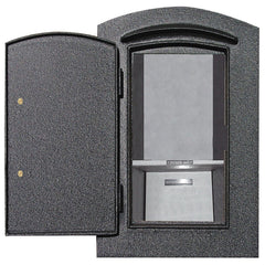 Qualarc Manchester Security Locking DROP CHUTE Plain Door Column Mailbox
