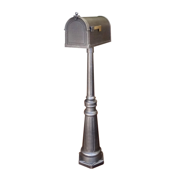 Special Lite Berkshire Curbside Mailbox with Tacoma Mailbox Post Unit