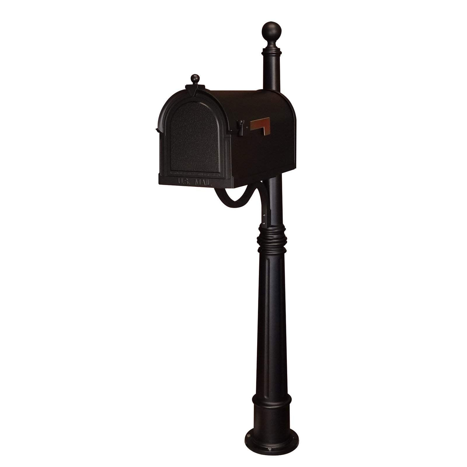 Special Lite Berkshire Curbside Mailbox With Ashland Mailbox Post Unit Prime Mailboxes