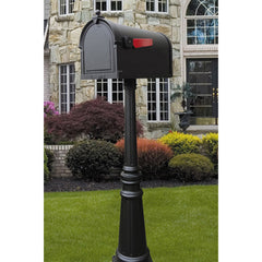 Special Lite Berkshire Curbside Mailbox with Tacoma Mailbox Post Unit; SCB-1015_SPK-591