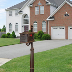 Special Lite Kingston Curbside Mailbox with Ashland Mailbox Post Unit SCK-1017_SPK600