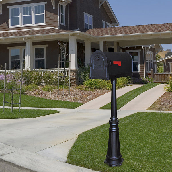 Special Lite Savannah Curbside Mailbox with Tacoma Mailbox Post Unit; SCS-1014_SPK-591