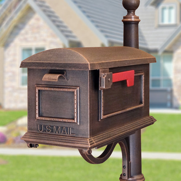 Special Lite Traditional Curbside Post Mount Mailbox; SCT-1010