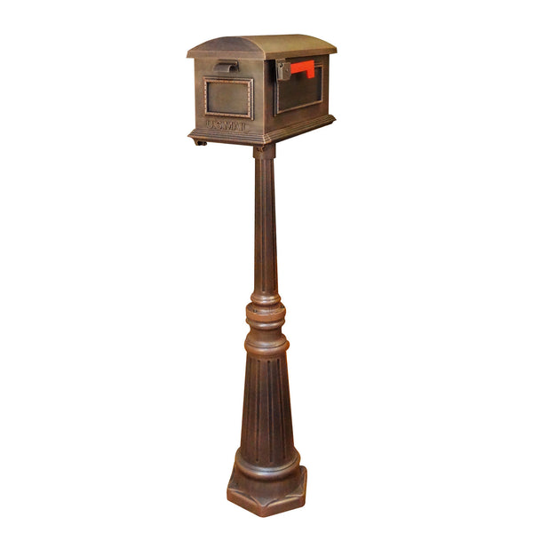 Special Lite Traditional Curbside Mailbox with Tacoma Mailbox Post Unit; SCT-1010_SPK-591