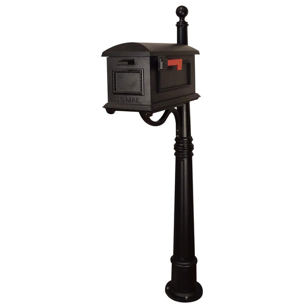 Special Lite Traditional Curbside Mailbox with Ashland Mailbox Post Unit