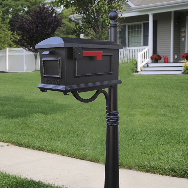 Special Lite Traditional Curbside Mailbox with Ashland Mailbox Post Unit; SCT-1010_SPK600