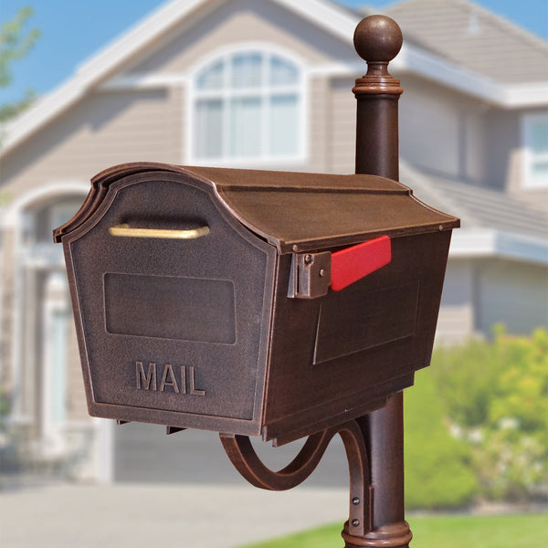 Special Lite Town Square Curbside Post Mount Mailbox; STB-1007