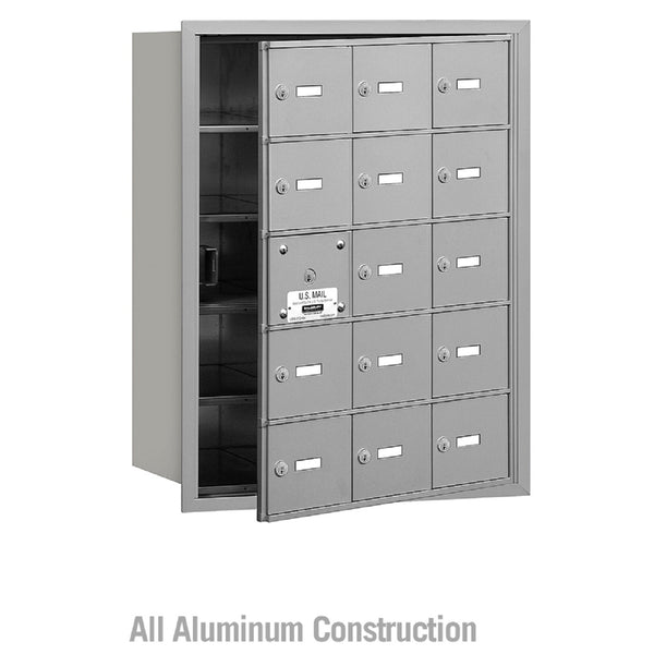 Salsbury Industries 4B+ Commercial Horizontal Mailbox 15 A Door Front Loading Private Access