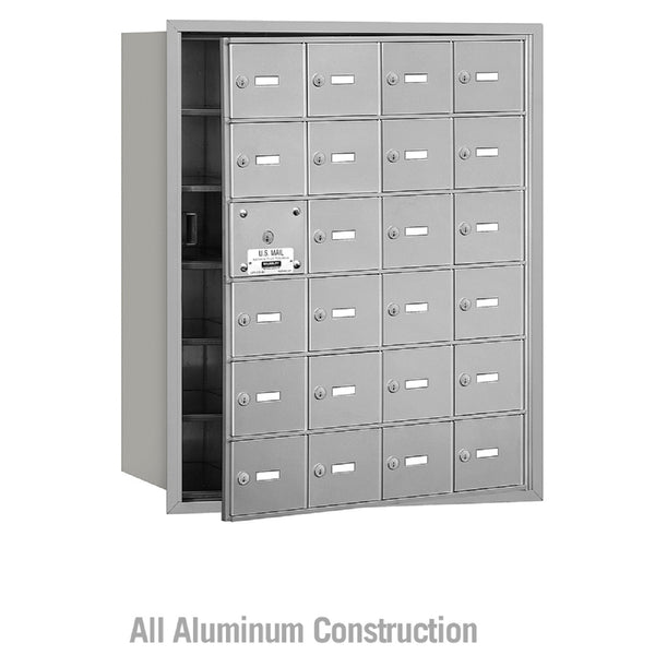 Salsbury Industries 4B+ Commercial Horizontal Mailbox Unit 24 Door Front Loading
