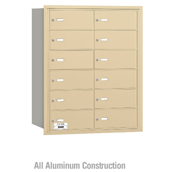 Salsbury Industries 4B+ Commercial Horizontal Mailbox 12 B Doors Rear Loading Private Access