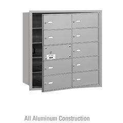 Salsbury Industries Commercial 4B+ Horizontal Mailbox 10 B Door 9 Usable Front Loading USPS Access